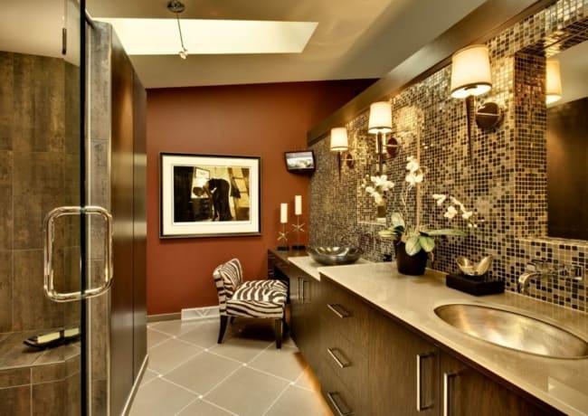 cor terracota no banheiro