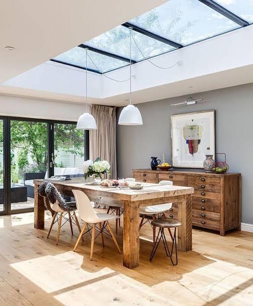 cozinha com iluminação zenital