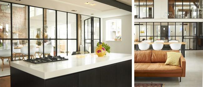 cozinha moderna com porta de ferro