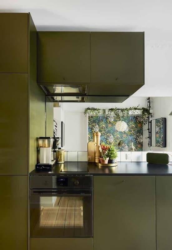 cozinha planejada verde musgo