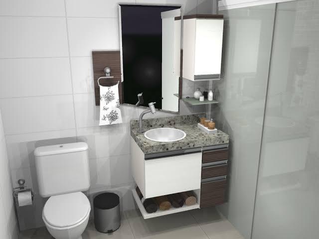 decoração de gabinete para banheiro planejado