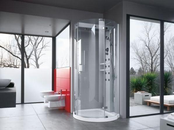dica de cabine de banho compacta