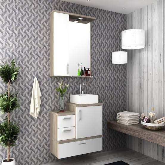 dica de gabinete para banheiro com espelho combinado