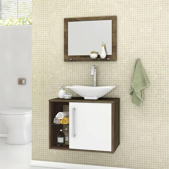 gabinete para banheiro com cuba arredondada