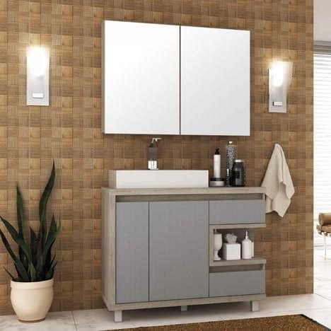 gabinete para banheiro com cuba completo