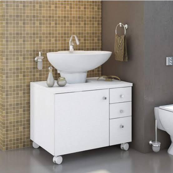 gabinete para banheiro com cuba grande