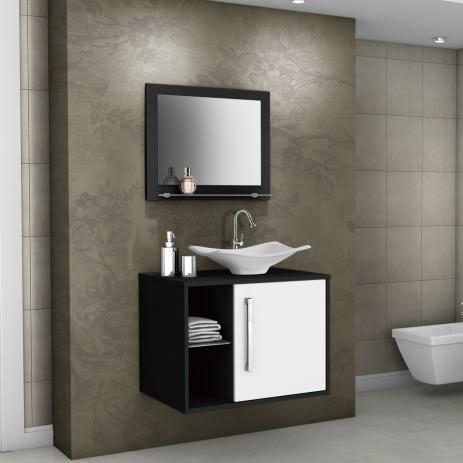 gabinete para banheiro com cuba luxo