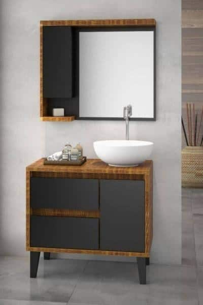 gabinete para banheiro com cuba redonda