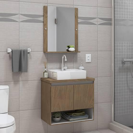 gabinete para banheiro com espelho combinado