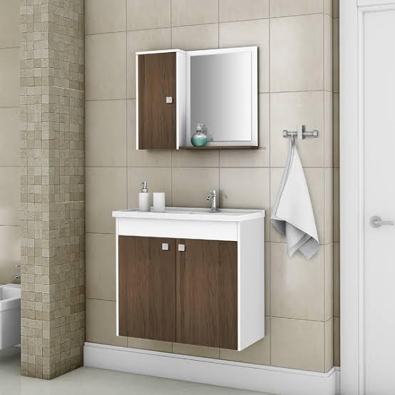 gabinete para banheiro com espelho