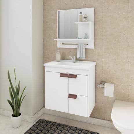 gabinete para banheiro com pia acoplada