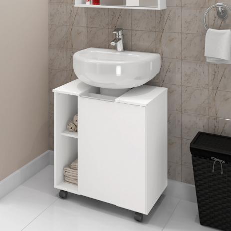 gabinete para banheiro com rodinha compacto