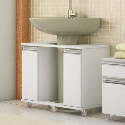 gabinete para banheiro com rodinha grande