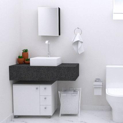 gabinete para banheiro com rodinha