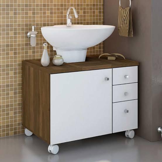 gabinete para banheiro com rodinhas