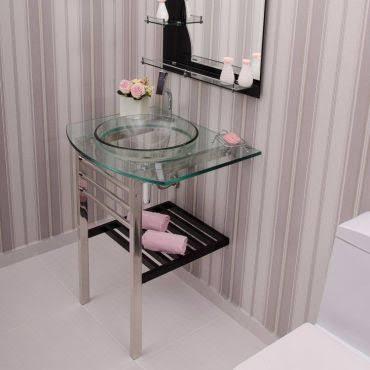 gabinete para banheiro de vidro bonito