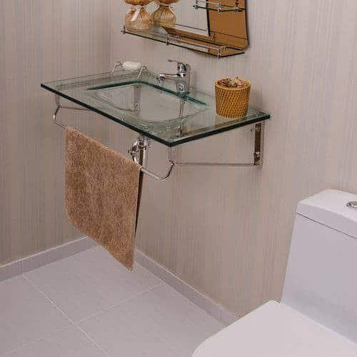 gabinete para banheiro de vidro ideias