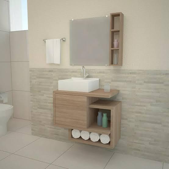 gabinete para banheiro moderno e compacto