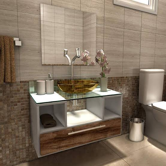 gabinete para banheiro moderno lindo