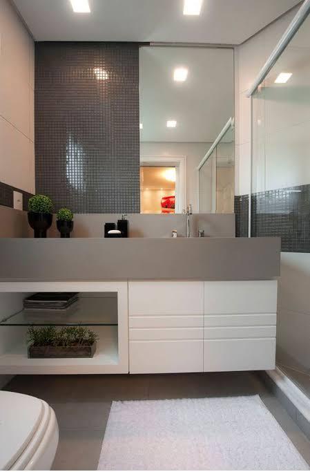 gabinete para banheiro moderno
