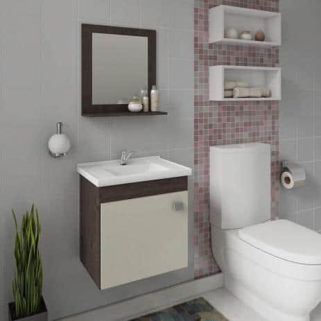 gabinete para banheiro pequeno e compacto