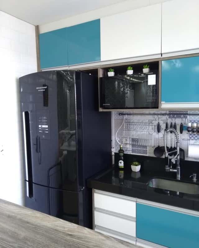 geladeira preta espelhada brastemp