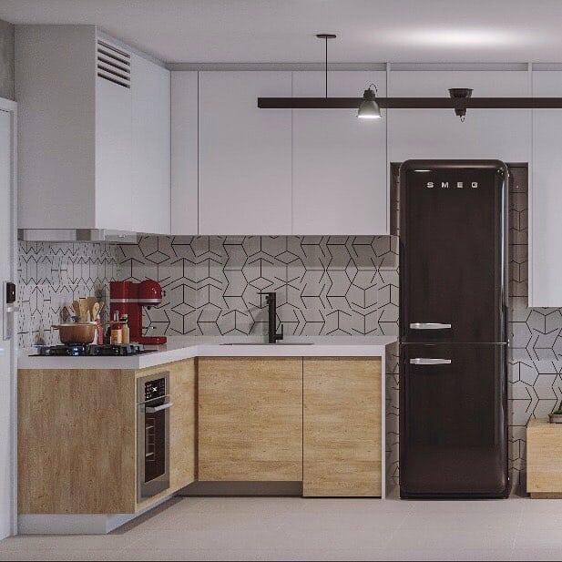 geladeira preta pequena