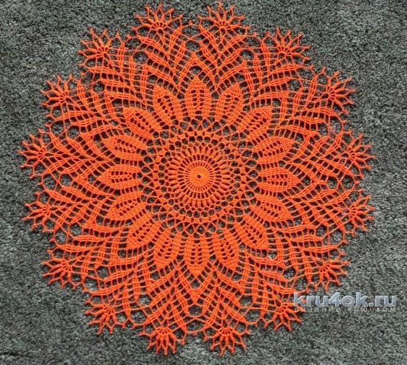 guardanapo artesanal de crochê