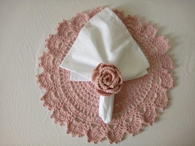 guardanapo rosinha para decorar a mesa