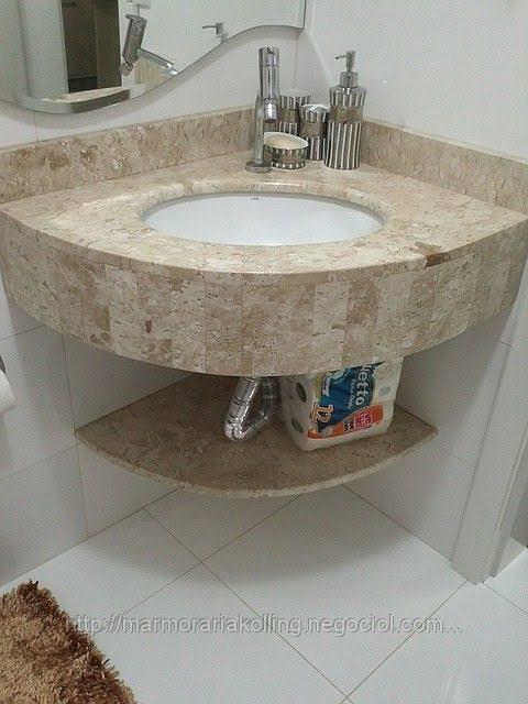 ideia de Pia de canto para banheiro