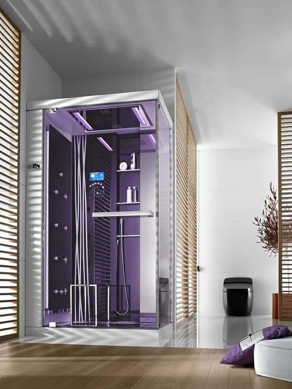 ideia de cabine de banho