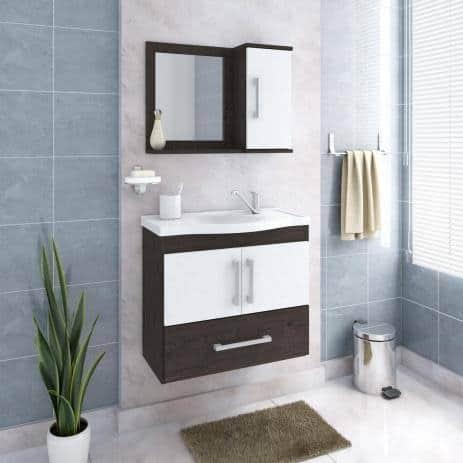 ideia de gabinete para banheiro com espelho