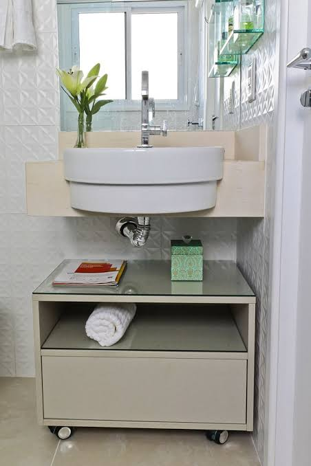 ideia de gabinete para banheiro com rodinha