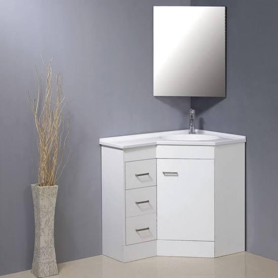 ideia de gabinete para banheiro de canto