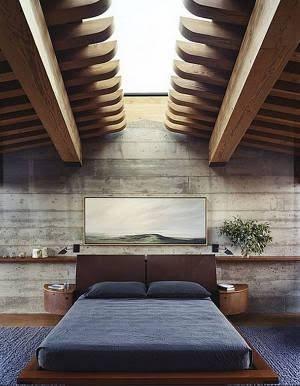 ideia de iluminação zenital no quarto
