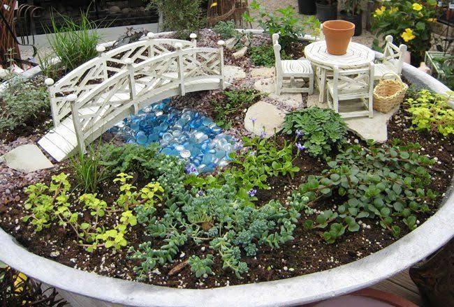 ideia de mini jardim japonês