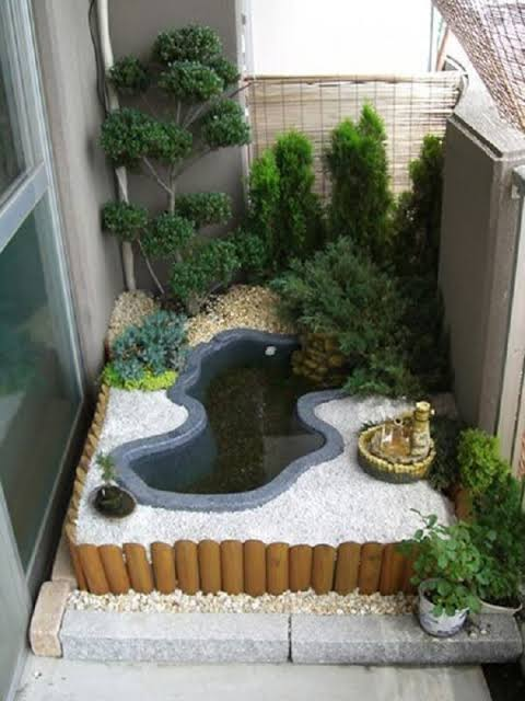 ideia e mini jardim japonês