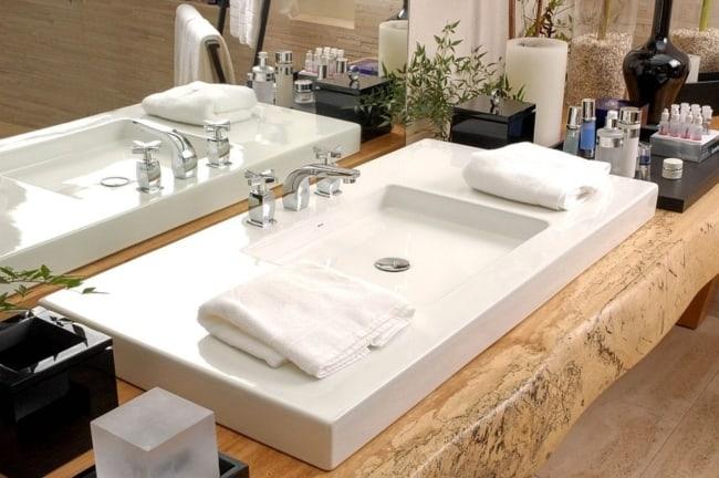 ideias de Pia de banheiro moderna