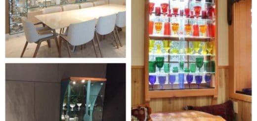 ideias de cristaleira de vidro moderna