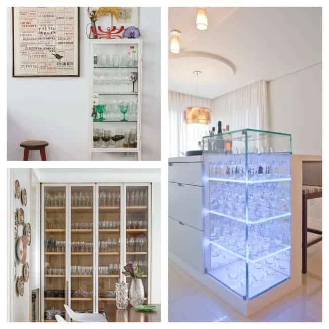 ideias de cristaleira de vidro
