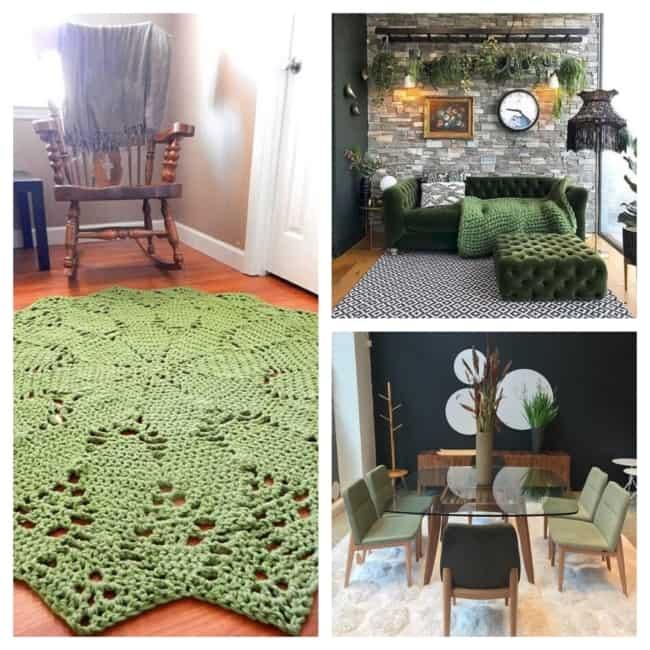ideias de decoração verde musgo