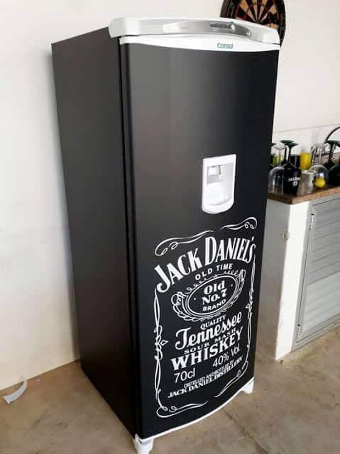 ideias de geladeira preta envelopada