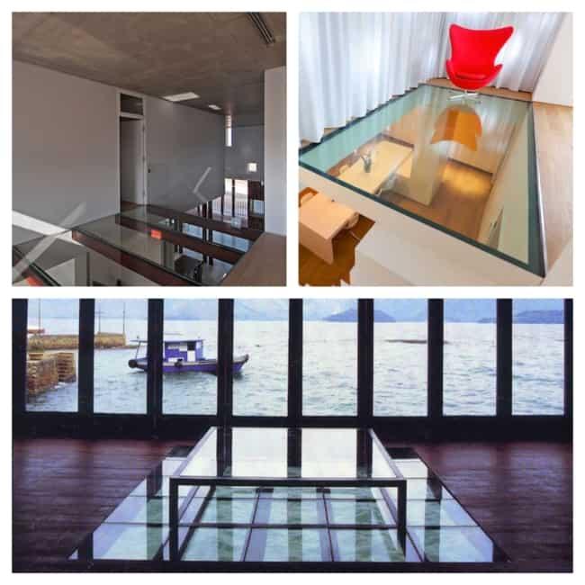 ideias de piso de vidro