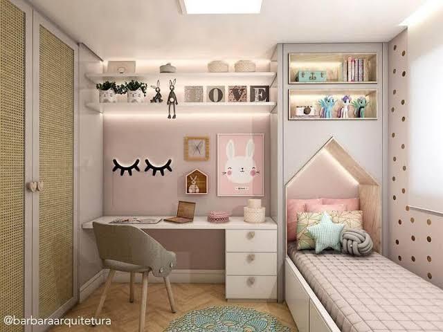 ideias de quarto infantil planejado feminino