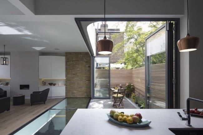 ideias piso de vidro transparente