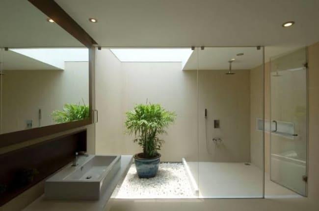 iluminação zenital em banheiro