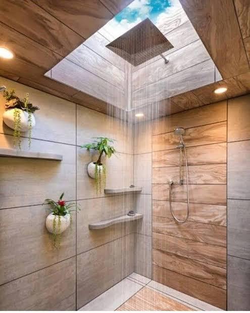 iluminação zenital em banheiros