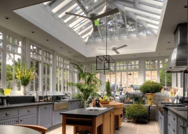 iluminação zenital em cozinhas