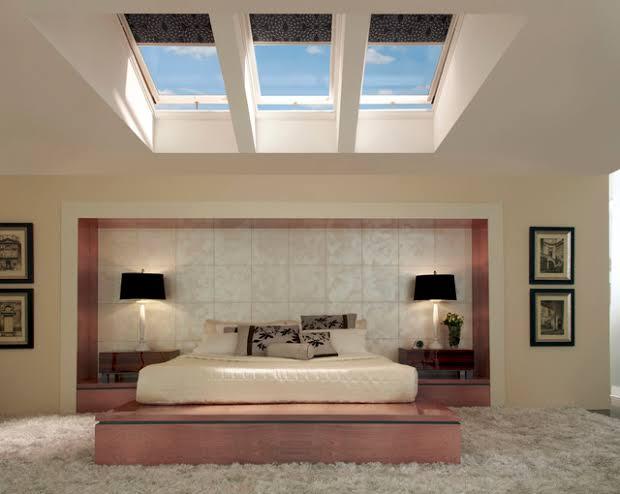 iluminação zenital no quarto