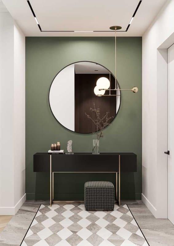 lavabo e banheiro com luminária de teto